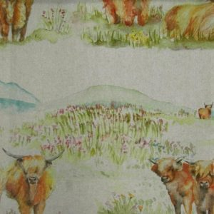 Country 3 Collection - Highland Cattle Linen