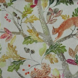 Country 3 Collection - Scurry Of Squirrels Linen