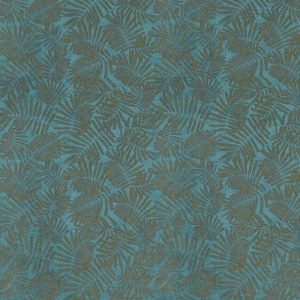Lilaea Fabric - Espinillo Velvet Teal/Brass