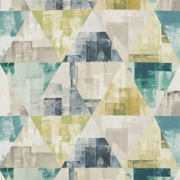Entity Fabrics - Geodesic Emerald/Linden/Topaz