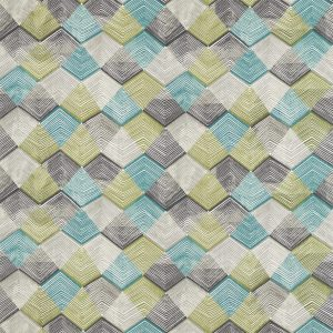 Entity Fabrics - Teal/Linden/Charcoal