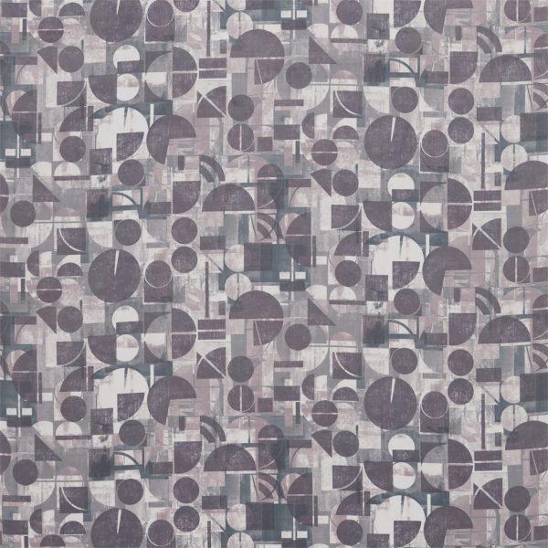 Entity Fabrics - Segments Gold/Damsons
