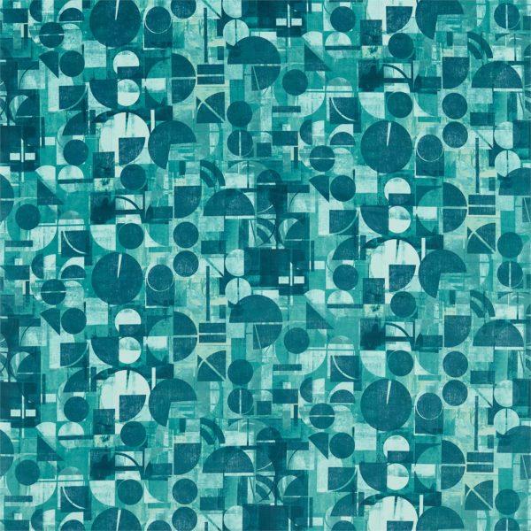 Entity Fabrics - Segments Teal/Emerald