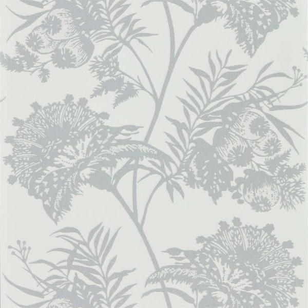Zapara Wallpaper - Bavero Shimmer Silver