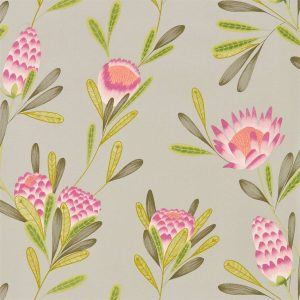 Zapara Wallpaper - Cayo Wallpaper Cerise/Zest