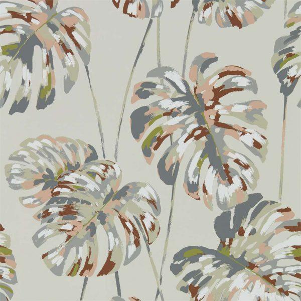 Zapara Wallpaper - Kelapa Wallpaper Charcoal/Blush