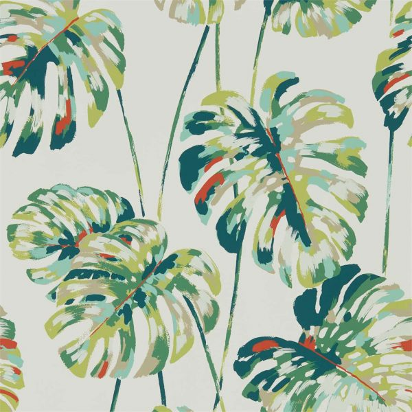 Zapara Wallpaper - Kelapa Wallpaper Emerald/Zest