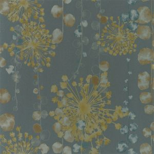 Anthozoa Wallpapers - Moku Graphite/Mustard