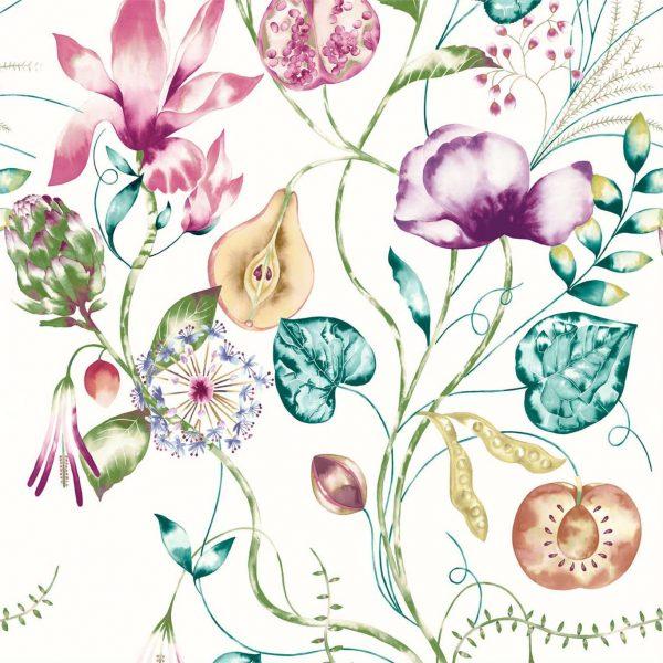 Zapara Wallpaper - Quintessence Wallpaper Lagoon/Cerise